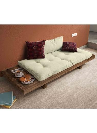 Woodesk Arin Masif Ceviz-Yeşil Renk Sedir Beyaz